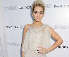 Rita Ora - winner of the Solo Artist of Year award - at the Glamour Awards 2013, which were sponsored by PANDORA UK. #PANDORAsponsors
