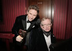 The amazing Stephen Hawking with Eddie Redmayne.