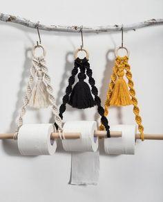 Paper Roll Holders, Paper Towel Holder, Towel Holders, Tissue Paper Roll, Boho Kitchen, Kitchen Decor, Boho Bathroom, Bathroom Black, Hipster Bathroom