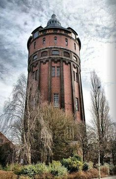 Watertoren, Hofstede de Grootkade, Groningen. The Netherlands. Foto: Leo Uiterwaal