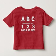 #party - #ABC Look who's 3 Print Toddler T-shirt