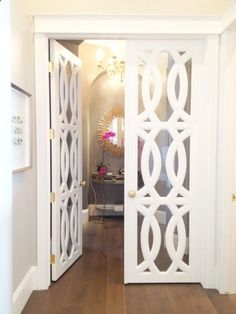 Striking doors can add visual interest to a home office or bedroom #AdoreYourDoors