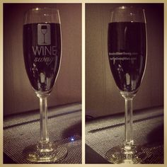 New WINEswag branded champagne glasses. What do you think?