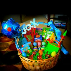 An easter basket for the hubby why not movie nerf gun and candy less easter basket idea for kids if youre like me and negle Images