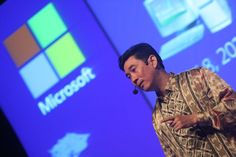 Presdir Microsoft Indonesia, Andreas Diantoro membuka acara #MPNconf2012
