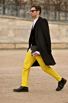 #menswear #yellowpants #simonmarchetti @dapperlou