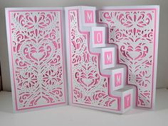Created by Holly Yarber with the Stairway Card die set from #crafterscompanion