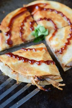 Pulled Pork and Caramelized Onion Quesadillas from @The Novice Chef Blog {Jessica}