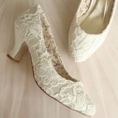 Retro Lace Wedding Shoe - bridal shoes