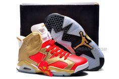2eadf7188c1d70 Original Air Jordan 6 VI Championship Metallic Gold Challenge Red Size US  7-13 Air