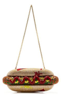 Hot Dog Crystal Clutch by Judith Leiber Couture Expensive Handbags, Unique Handbags, Unique Purses, Purses And Handbags, Luxury Purses, Luxury Bags, Vintage Purses, Vintage Handbags, Couture Handbags