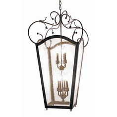 2nd Ave Design Tessa 8 Light Outdoor Pendant Finish: Gilded Tobacco, Shade Type: Real Mica