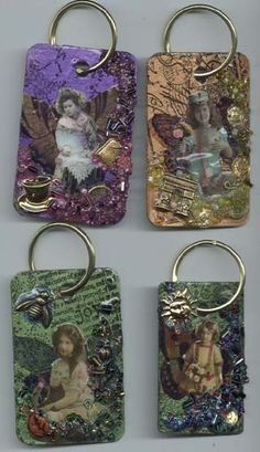 formica tag keychains #tags #altered art