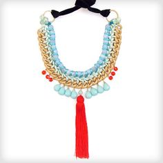 the ultimate statement piece http://www.cottonandgems.com/jewellery/necklaces/clare-hynes-meihui-necklace