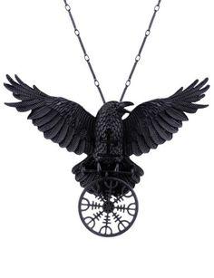 Restyle-Gothic-Raben-Halskette-Runen-Raven-Nordic-Crow-Talisman-Necklace-Witch