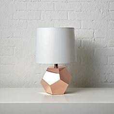 Geometric Rose Gold Lamp