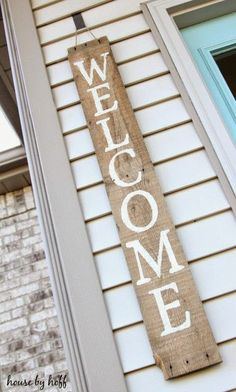 Simple Pallet Welcome Sign.   #pallets