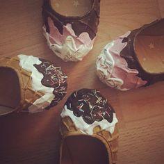 Ice cream ballerina pumps