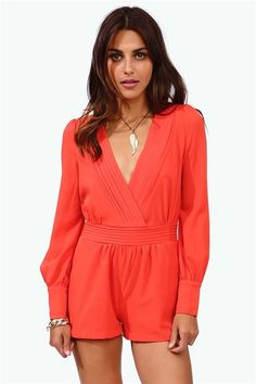 Sultry Romper - Coral