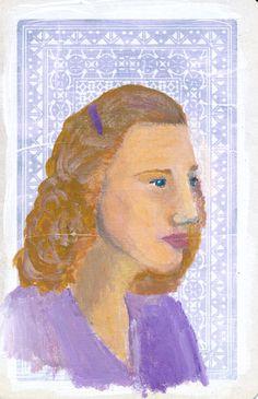 Portrait Study No 1 Original Acrylic Painting on by JuliaWrightArt on Etsy.