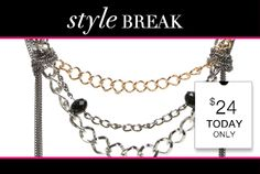 STYLE BREAK! Get the Stevie Necklace for $24. Today Only!