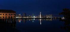 Cidade do Panamá, vista noturna.