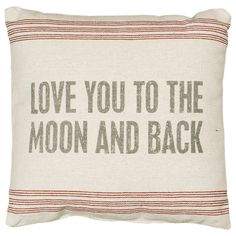 To the Moon Pillow in Cream
