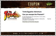 Click the Pin to receive this coupon to the Tomb in Pigeon Forge!