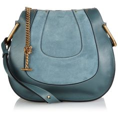 Chloé Hayley small suede and leather shoulder bag ($1,613) ❤ liked on Polyvore…