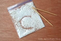 DIY tips on how to develop fine motor skills with your preschooler and sensory bags.