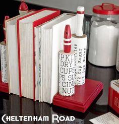 Vintage kitchen rolling pin bookends cheltenhamroad for mod podge rocks