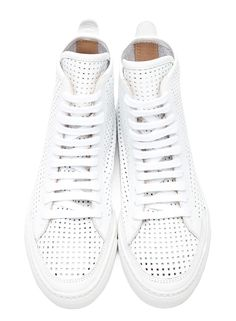 MM6 BY MAISON MARTIN MARGIELA - PERFORATED LEATHER SNEAKERS
