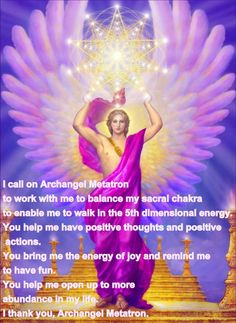 Thank you Archangel Metatron for being my chief Angel as a worker in the healing arts