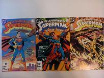 3 COMIC RUN/LOT ADVENTURES OF SUPERMAN  #424,425,432  (DC 1987) *FREE SHIPPING*