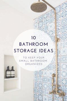 Great storage solutions for small bathrooms. These 10 tips help keep me completely organized!