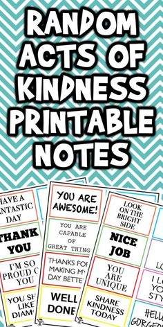 Today I'm sharing these Random Act of Kindness Printable Notes with you. These are perfect to share with someone who needs a little pick me up. Kindness Notes, Kindness For Kids, Kindness Matters, Random Acts Of Kindness Ideas For School, Kindness Projects, Kindness Activities, Activities For Kids, Teaching Kindness, Efl Teaching
