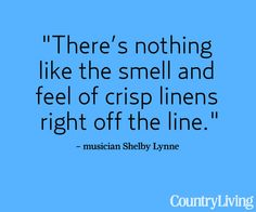 My Clothes Line Poles are up - can't wait until I can string the wire and I will have a lovely place to hang my clothes to dry!!  I so agree with this quote........