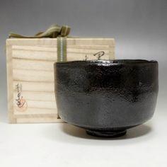Modern Japanese Raku Pottery Tea Bowl w Tomobako #1929 - CHANOYU