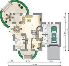 Rzut Mój Dom Tapien CE 2bhk House Plan, House Layout Plans, Modern House Plans, House Layouts, House Floor Plans, Home Design Plans, Plan Design, Residential Architecture, Architecture Design