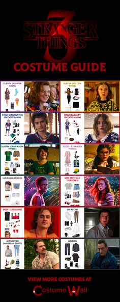 Stranger Things 3 costume guideBrowse the Stranger Things 3 costume and cosplay guides.Look at how each Stranger Things character looks with a step-by-step guide to DIY cosplays. You'll find instructions on how to dress like Stranger Things Netflix, Stranger Things Merchandise, Lucas Stranger Things, Stranger Things Characters, Stranger Things Quote, Stranger Things Season 3, Stranger Things Aesthetic, Movie Characters, Disfraces Stranger Things
