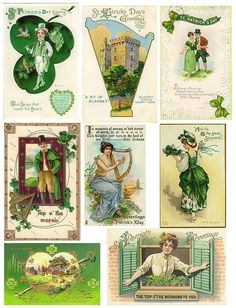 St Patricks Day vintage printables