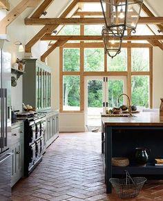Such a pretty kitchen!!  -- huge lighting sales happening today, details + picks on Beckiowens.com.  @devolkitchens