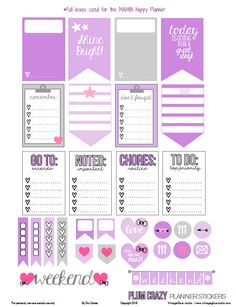 """Hello planner peeps and Happy Friday! I hope you are excited about the weekend and are ready for your next """"pretty planning"""" session in your Happy Planner. Today, I am releasing planner stickers made specifically for Happy Planners by Me and My Big Ideas. I was inspired by a plum sticker layout that I saw … … Continue reading →"""