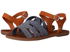 TOMS Zoe Sandal Chambray Brown Suede - Zappos.com Free Shipping BOTH Ways