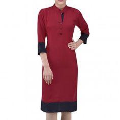 Kurtis - Buy Designer Kurti Online For Women Off - IndiaRush Girls Kurti, Ethnic Kurti, Absolutely Gorgeous, Dresses For Work, Tunic Tops, Indian, Cotton, Collection, Design