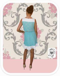 Quem resiste a esse Vestido Estilo Vintage com Estampa de Garfinho & Colherzinha!?