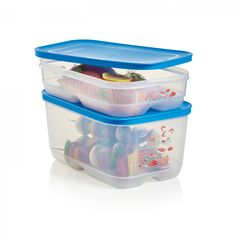 Surf 'N Turf Containers:          Deep container is ideal for big pieces of meats such as chicken, turkey or roast, while the Shallow container is perfect for flat shaped foods like fillets, pork chops, fish and steaks.Seals in Raindrop.Help prevent cross-contamination within your refrigerator.Built-in grid holds meat and seafood above the liquid and moisture that are released during defrosting.Modular containers stack together with FridgeSmart® containers, maximizing your fridge…