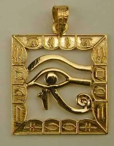 Solid gold eye of Horus. Jewelry from ancient Egypt Ancient Egyptian Jewelry, Egypt Jewelry, Egyptian Mythology, Egypt Art, Ancient Artifacts, Ancient Civilizations, Ancient History, Archaeology, Statue