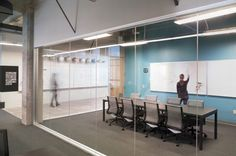 Office Tour: Inside Indiegogo's Creative SoMA Offices Fun Office Design, Cool Office Space, Open Office, Office Workspace, Corporate Interiors, Office Interiors, Visual Merchandising, Startup Office, Backyard Office