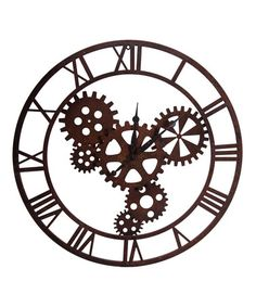 Another great find on #zulily! Gear Wall Clock #zulilyfinds